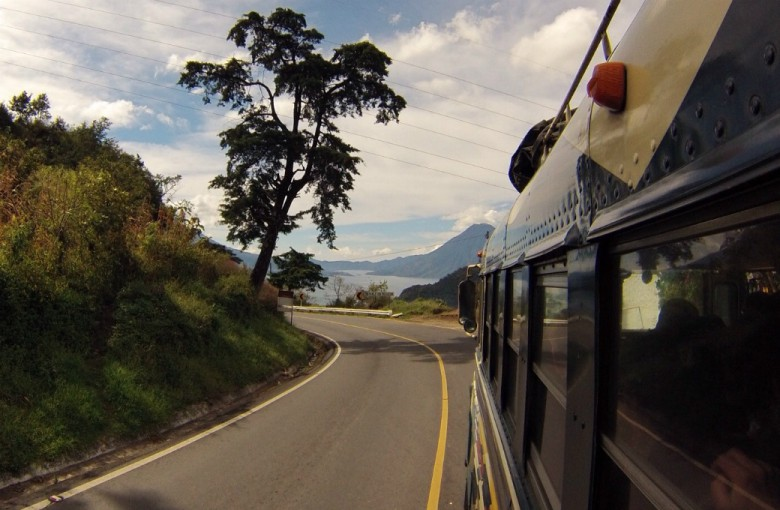 Straße zum Lago die Atitlan