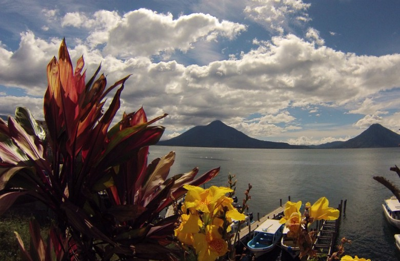 Blick über den Lago di Atitlan