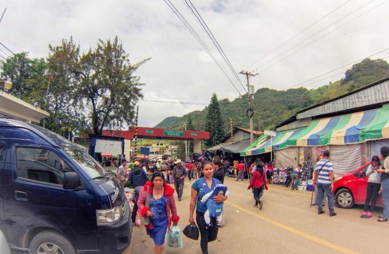 Grenzübergang von Guatemala nach Mexico