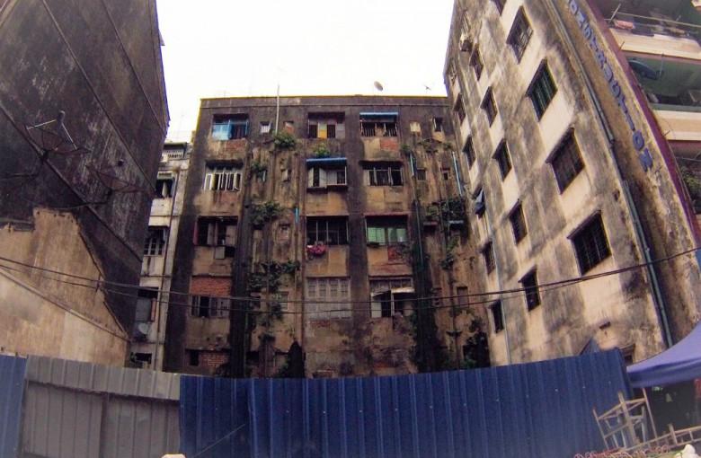 Häuserfronten in Myanmar